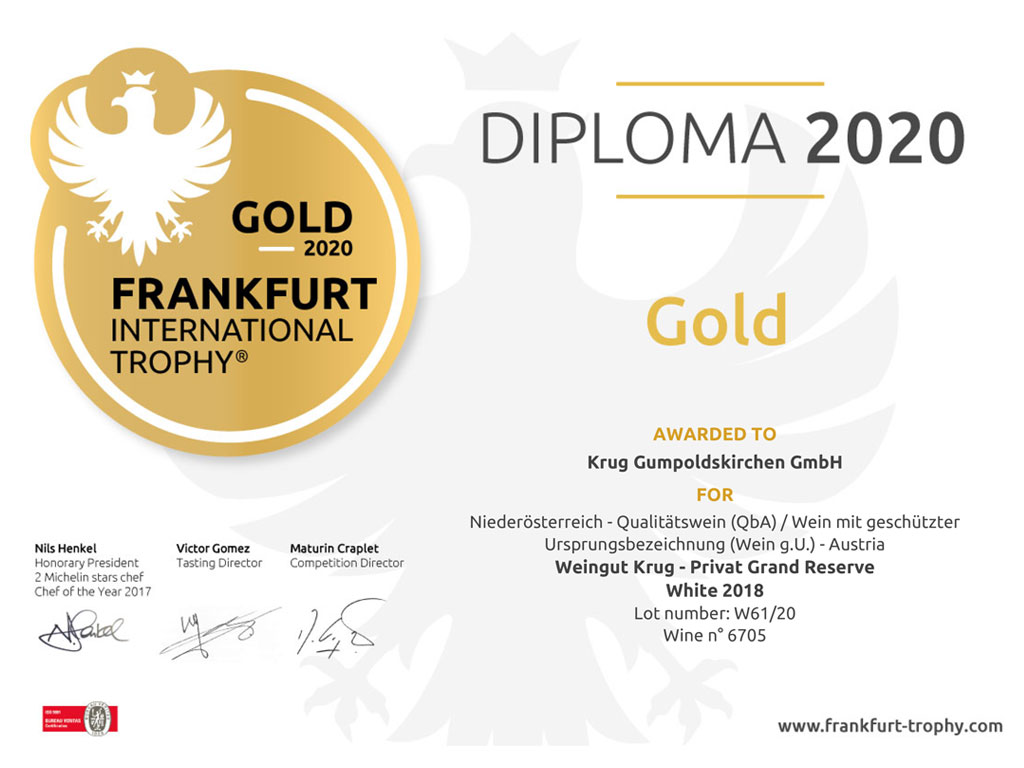 INTERNATIONAL WINE TROPHY FRANKFURT für KRUG